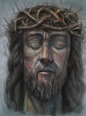 Head Of Christ With Thorn Poster by Paez  ANTONIO