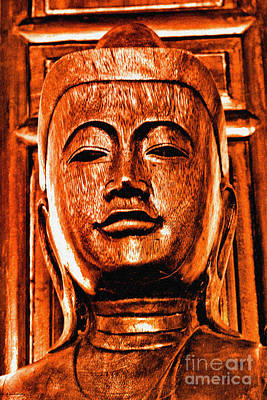 Head Of The Buddha Poster