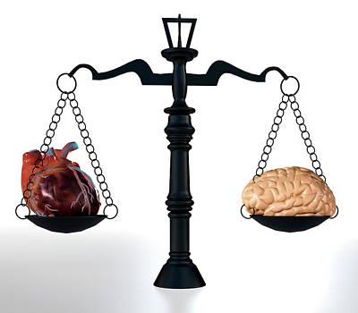 Head Vs Heart Poster by Christian Darkin
