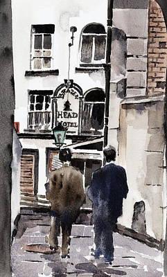 Heading For The Brazen Head  Dublin Poster