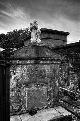Headless Angel In Black And White Poster