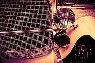 Poster featuring the digital art Headlight And Horn by Bartz Johnson