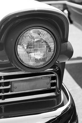 Headlight Black And White Poster by Denise Beverly