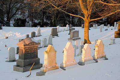 Headstones In Winter 3 Poster