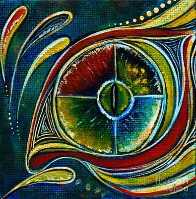 Poster featuring the painting Healer Spirit Eye by Deborha Kerr