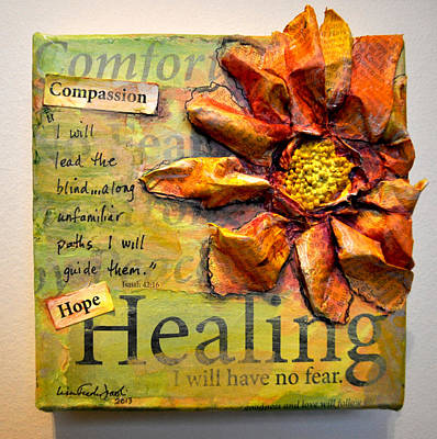 Poster featuring the painting Healing From Isaiah 42 by Lisa Fiedler Jaworski