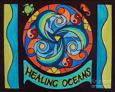 Poster featuring the painting Healing Oceans by Janet McDonald
