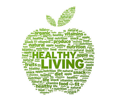 Healthy Living Apple Illustration Poster by Aged Pixel