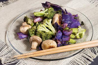 Healthy Vegetarian Stir Fry Poster by Donald  Erickson