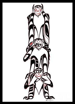 Hear No Evil Speak No Evil See No Evil Totem Poster by Speakthunder Berry
