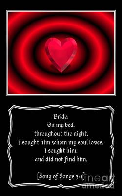 Heart And Love Design 11 With Bible Quote Poster by Rose Santuci-Sofranko
