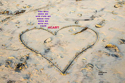 Heart And Words Poster by Joseph S Giacalone