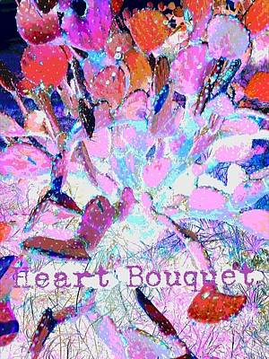 Heart Bouquet  Poster by ARTography by Pamela Smale Williams
