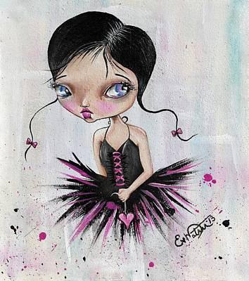 Heart Break Ballet Poster by Lizzy Love of Oddball Art Co
