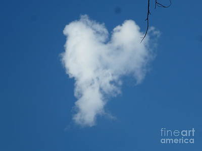 Heart Cloud Bell Rock Poster