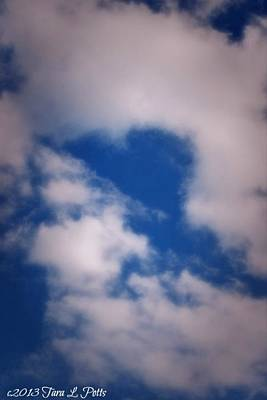 Poster featuring the photograph Heart In The Clouds by Tara Potts