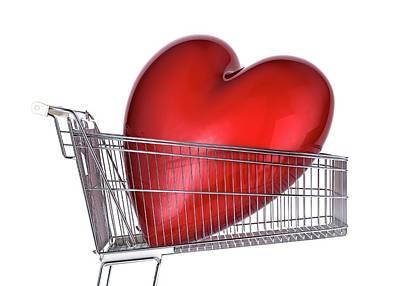 Heart Inside A Shopping Trolley Poster