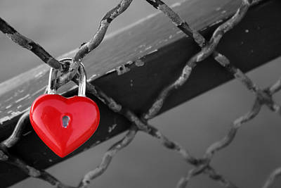 Poster featuring the photograph Heart Lock by Lisa Parrish