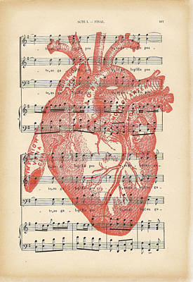 Heart Music Poster by Georgia Fowler