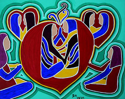 Heart Of The Ages Poster by Barbara St Jean