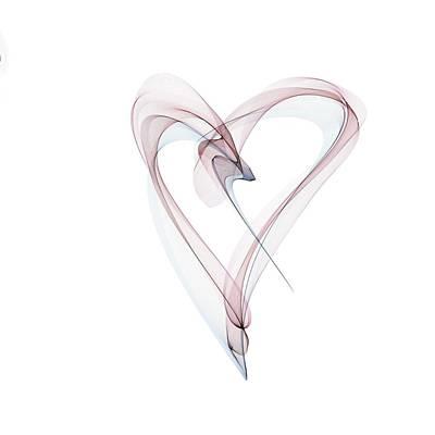 Heart Pattern Poster by Mehau Kulyk