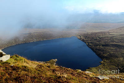 Heart Shape Lake Lough Ouler Wicklow In Ireland Poster