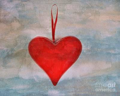 Heart Shape Textured Poster