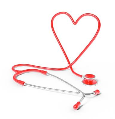 Heart Shaped Stethoscope Poster
