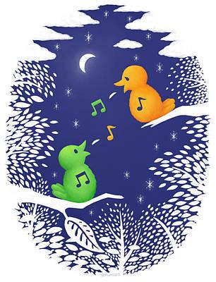 Poster featuring the digital art Heart Song by Ben Hartnett