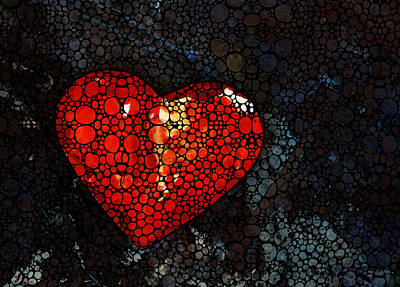 Heart - Stone Rock'd Art By Sharon Cummings Poster