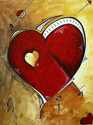 Heartbeat By Madart Poster by Megan Duncanson