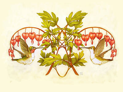 Hearts And Hummingbirds Poster by Catherine Noel