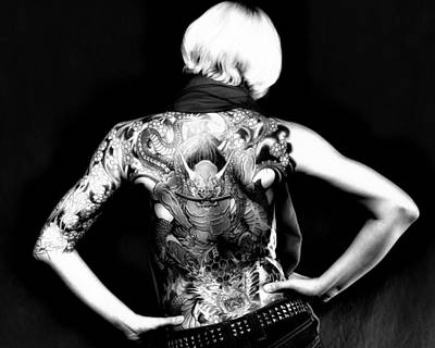 Heather The Tatooed Lady Poster by Robert  FERD Frank