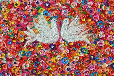 Heavenly Love - Gentle White Doves Poster