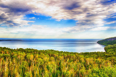 Heavens Over Lake Superior Poster by Bill Tiepelman