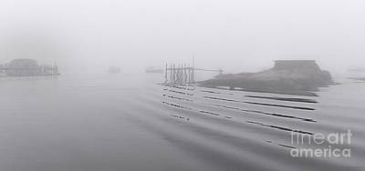 Poster featuring the photograph Heavy Fog And Gentle Ripples by Marty Saccone