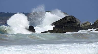 Heavy Surf Action Fernando De Noronha Brazil 2 Poster