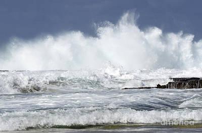 Heavy Surf Action Fernando De Noronha Brazil 3 Poster
