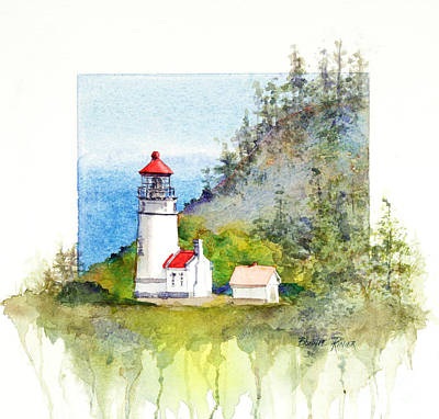 Heceta Head Lighthouse Poster by Bonnie Rinier