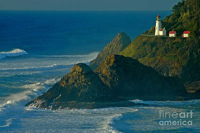 Heceta Head Seascape Poster by Nick  Boren