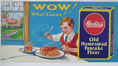 Heckers' Old Homestead Pancake Flour Poster