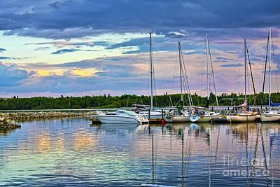 Hecla Island Boats II Poster by Teresa Zieba