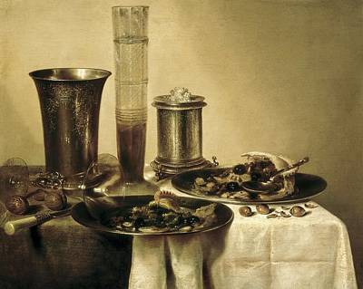 Heda, Willem Claesz 1594-1680. The Poster by Everett