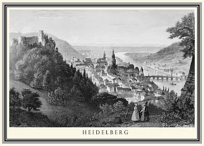 Heidelberg Etching Poster