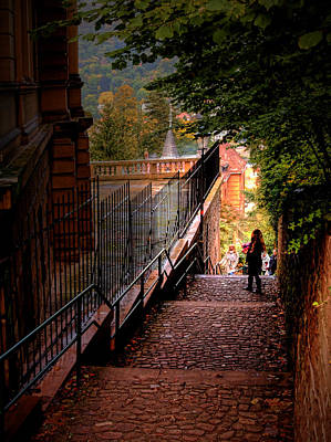 Poster featuring the photograph Heidelberg Stairway by Jim Hill