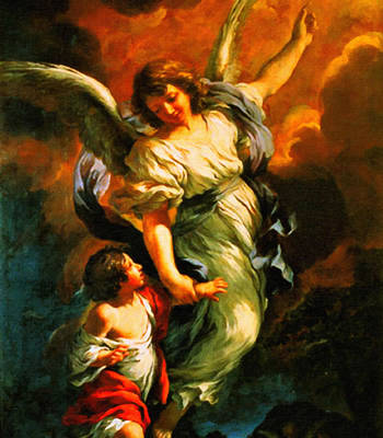 Heiliger Schutzengel  Guardian Angel 4  Enhanced Poster by MotionAge Designs