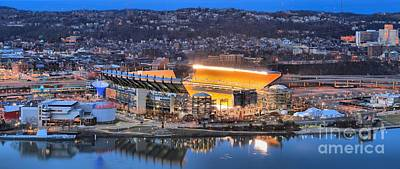 Heinz Field Evening Panorama Poster by Adam Jewell