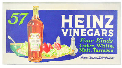 Heinz Vinegars Poster by Woodson Savage