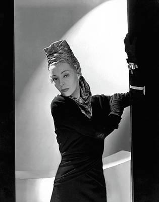 Helen Bennett Wearing A Balenciaga Dress Poster by Horst P. Horst