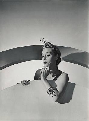 Helen Bennett Wearing Mainbocher Jewelry Poster by Horst P. Horst